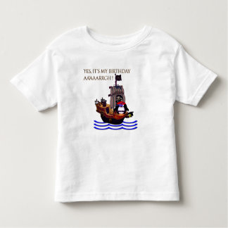 Little pirate birthday toddler t-shirt