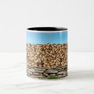 little place of blue sky Two-Tone coffee mug