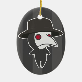 Little Plague Doctor Ceramic Oval Ornament