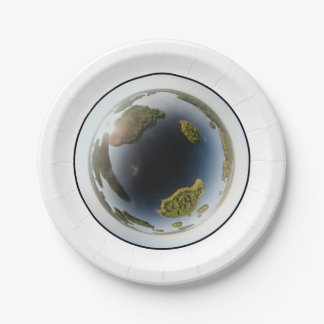 Little planet lake paper plate