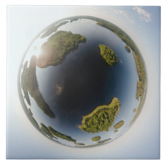 Little planet lake tile