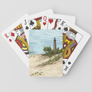 Little Point Sable Lighthouse Michigan Playing Cards