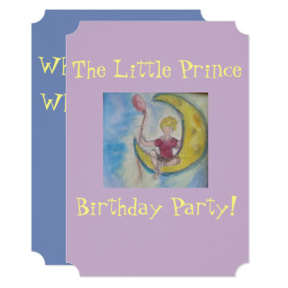 Little Prince Birthday Party Card