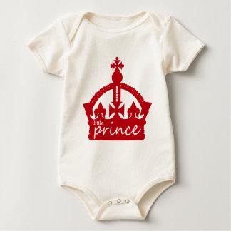 Little Prince Crown (red) Baby Bodysuit