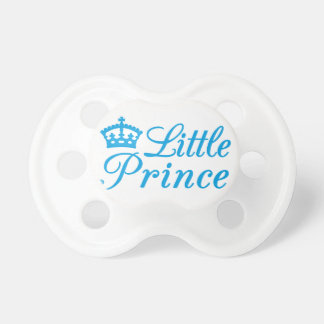 Little prince, design with blue crown for baby pacifier