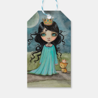 Little Princess and Kitty Fantasy Art Gift Tags Pack Of Gift Tags