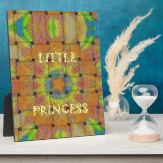 Little Princess Beautiful  colors Design Plaque