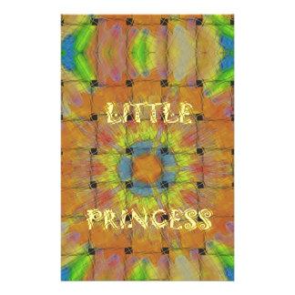 Little Princess Beautiful  colors Design Stationery