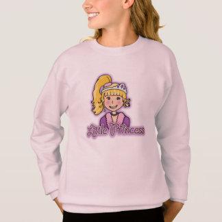 Little Princess blonde hair girl pink hoodie