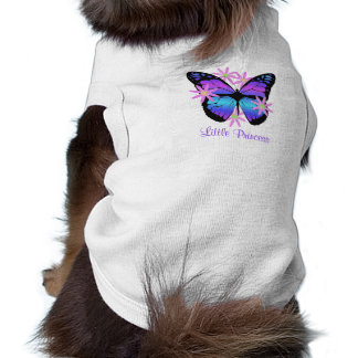 Little Princess Butterfly Doggie Ribbed Tank Top