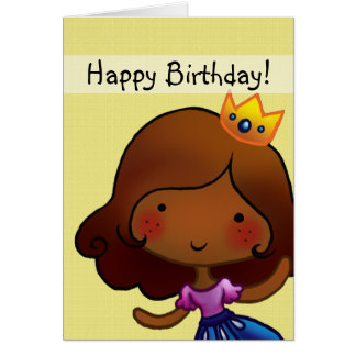 little princess customisable birthday card