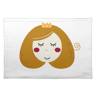 Little princess design on white placemat
