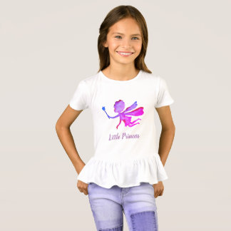 Little Princess Fairy Ruffle T-Shirt, White T-Shirt