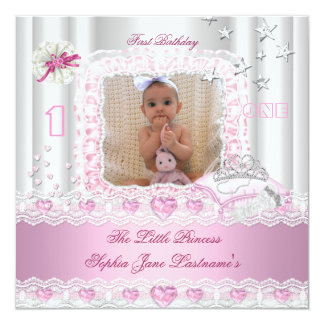 Little Princess First Birthday Party Photo 2 Invites