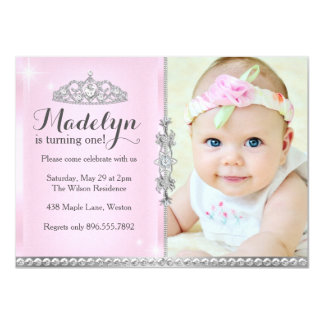 Little Princess First Birthday Pink Invitation