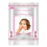 Little Princess Girl First Birthday Party Photo Invitation