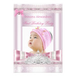 Little Princess Girl First Birthday Party Photo Personalized Invitations