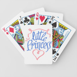 little princess heart design bicycle playing cards