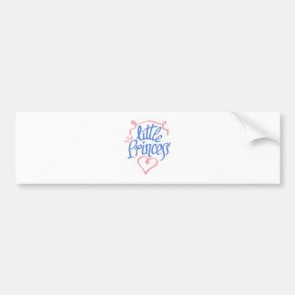 little princess heart design bumper sticker