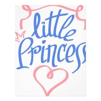 little princess heart design letterhead