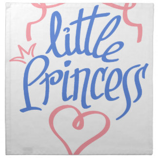 little princess heart design napkin