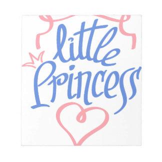 little princess heart design notepad