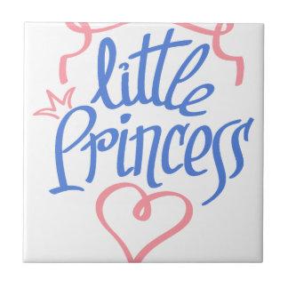 little princess heart design tile