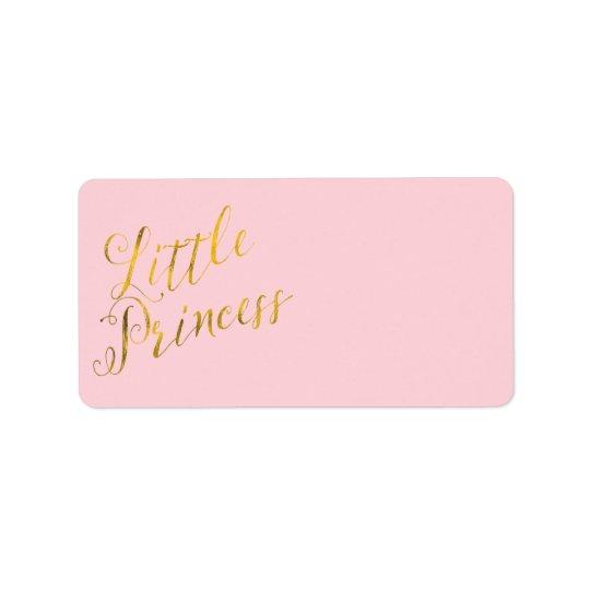 Little Princess Quote Faux Gold Foil Glitter Pink