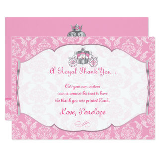 Little Princess Thank You Cards