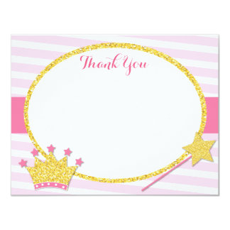 Little Princess Thank You Notes Cards