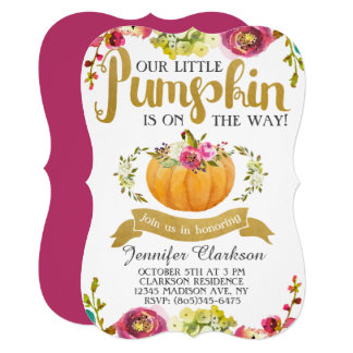 Little Pumpkin Baby Shower Card