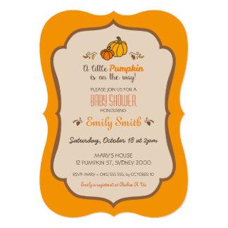 Little Pumpkin Baby Shower Invitation V2