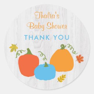 Little Pumpkin Baby Shower Sticker
