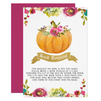 Little Pumpkin Book Request Card