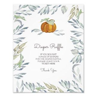 Little Pumpkin Diaper Raffle Sign