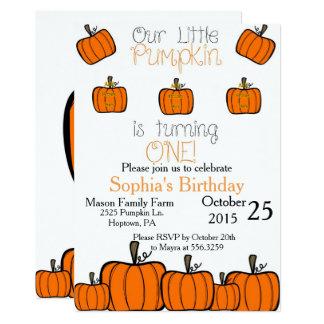 Little Pumpkin First Birthday Card