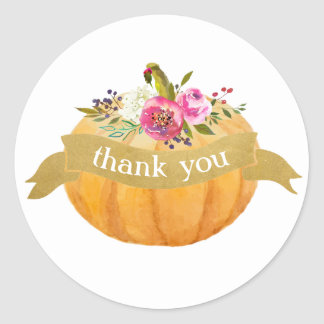 Little Pumpkin Floral Fall Sticker