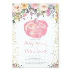 Little Pumpkin Girl Baby Shower Invitation Card