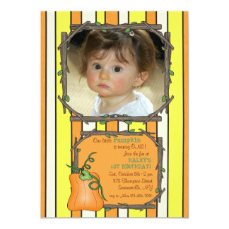 Little Pumpkin Photo Invitation