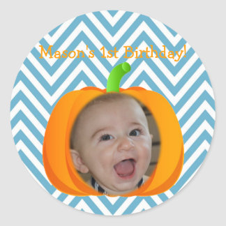 Little Pumpkin Themed 1st Birthday Sticker