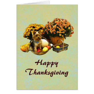 Little Pup's Thanksgiving card