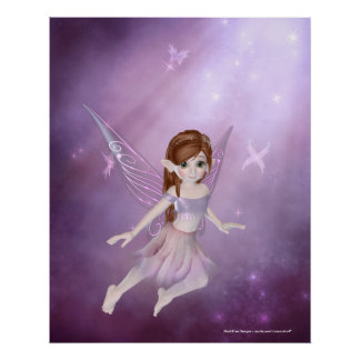 Little Purple Fairy Design - Fantasy Print