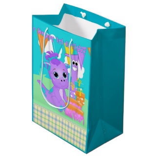Little Purple Monster Happy 1st Birthday Gift Bag