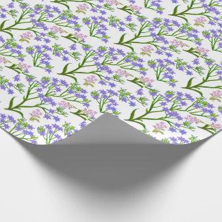 Little Purple Roadside Wildflowers Wrapping Paper