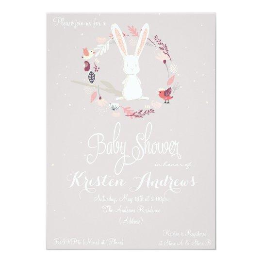 Little rabbit Baby Shower Invitation III