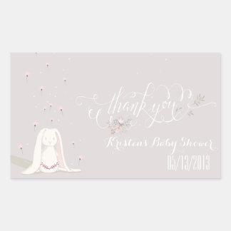Little Rabbit Baby Shower Sticker IV