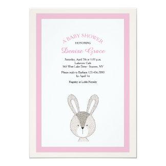 Little Rabbit Pink Invitation