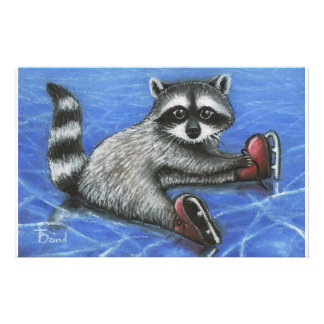 Little raccoon custom stationery
