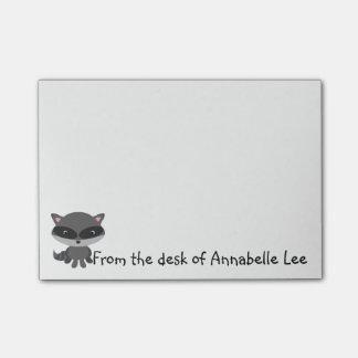 Little Raccoon Friend Post-it Notes