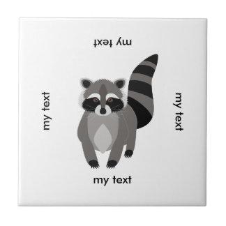 Little Raccoon Rascal Personalized Ceramic Tile